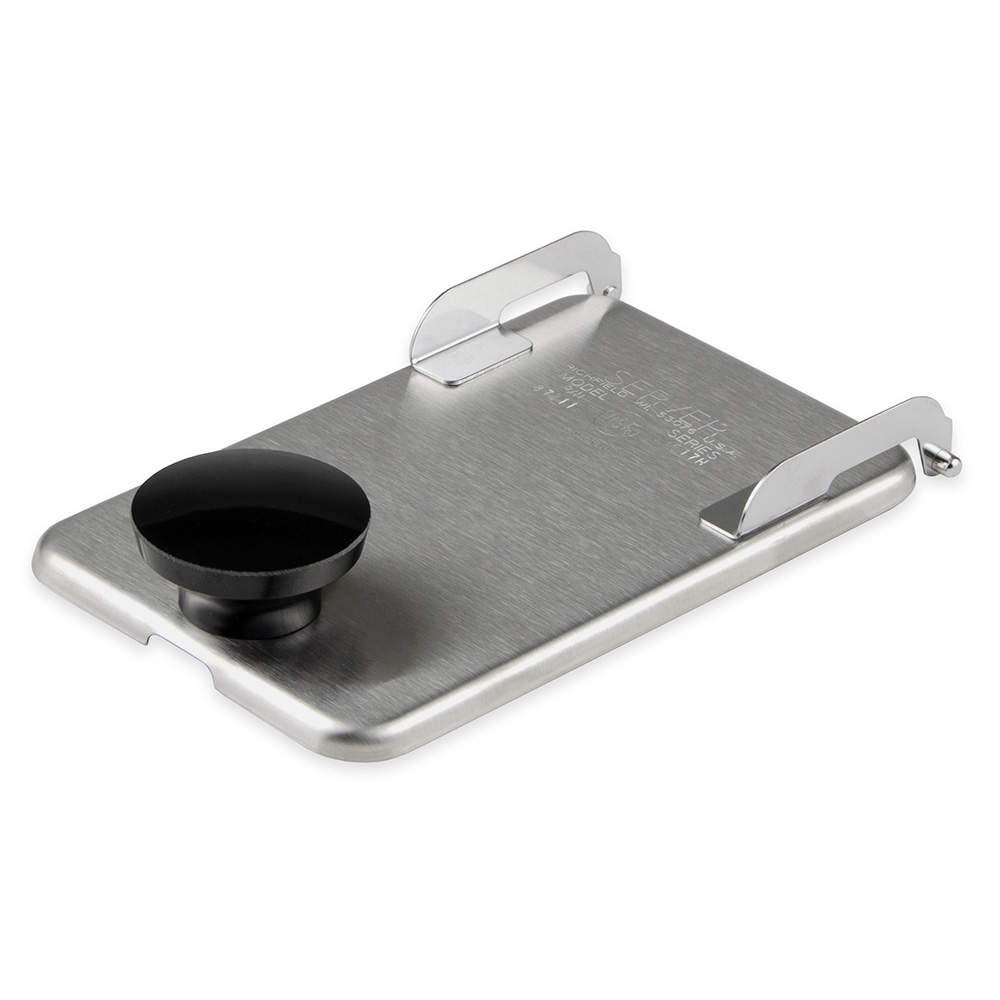Server Products 82545 Fountain Jar Lid, Sanitary Hinged Lid, Slot for Ladle, SS, NSF
