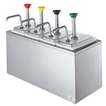 Server Products 82830 Syrup Rail, 4 Fountain Jars, 4 Pumps, SS