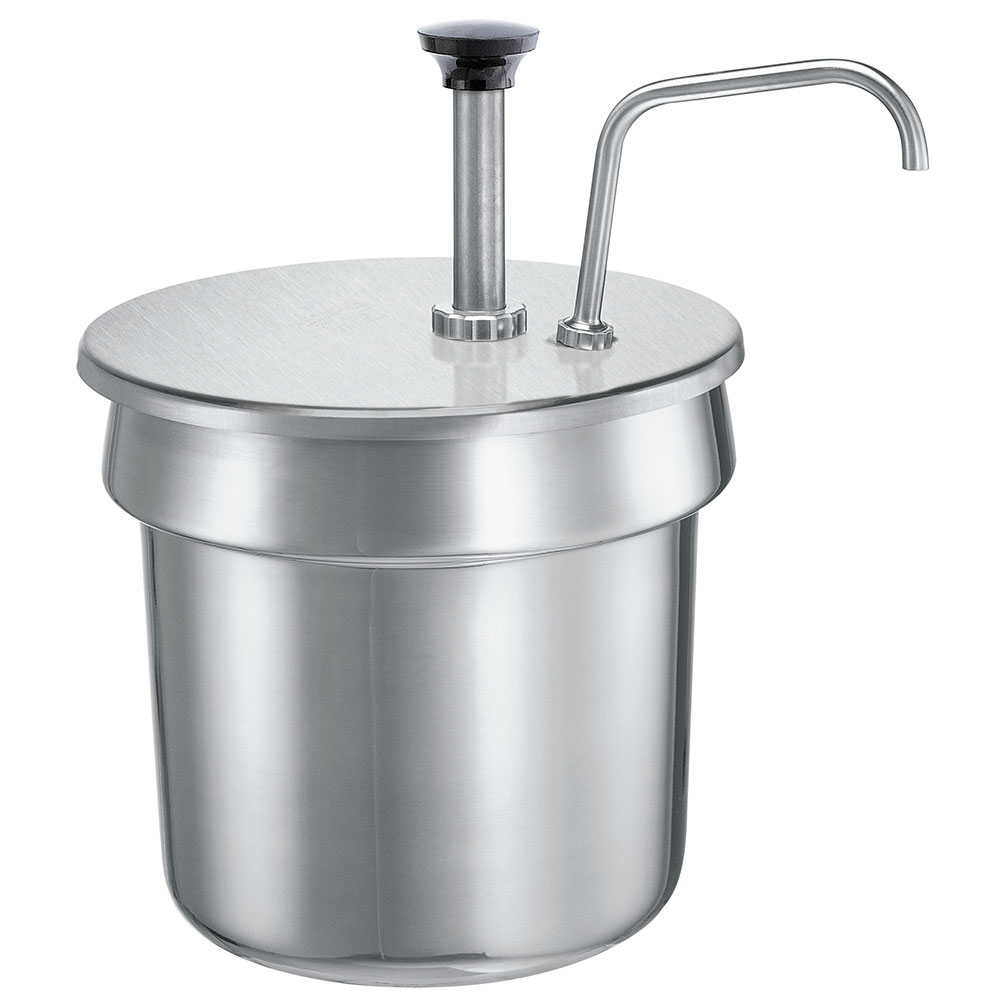 Server Products 83200 Condiment Pump, SS, Uses 6-1/2 in, 4 qt. Inset, NSF