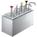 Server Products 83700 Serving Bar, 4 Fountain Jars, 4