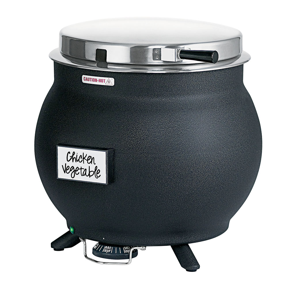 Server Products 84290 Kettle Server - For Rethermalization, Thermostatically Controlled, Black