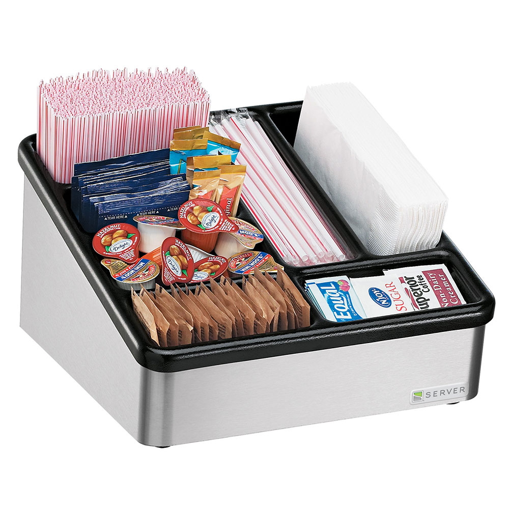 Server Products 85130 Countertop Organizer, Slanted, 7 Compartments, NSF