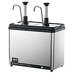Server Products 86140 Countertop Chiller w/ (3) 1/9-Size Jar Capacity, Stainless Base