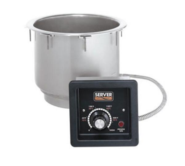 Server Products 86710 In-Counter Food Warmer / Cooker, 11 qt, 36 in Cord, SS, NSF, 120 V