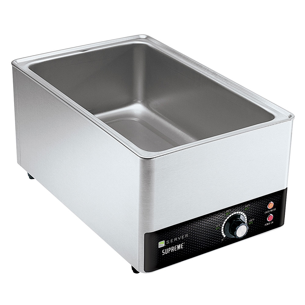 Server Products 90020 20-qt Supreme Full Size Pan Warmer - Thermostatically Controlled, Stainless Steel