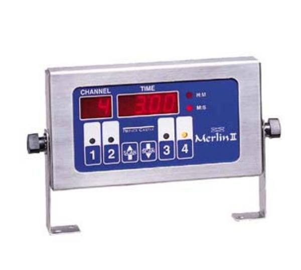Prince Castle 740-T4 Timer, 4 Channel, Single Function, LCD, 10 ft Cor