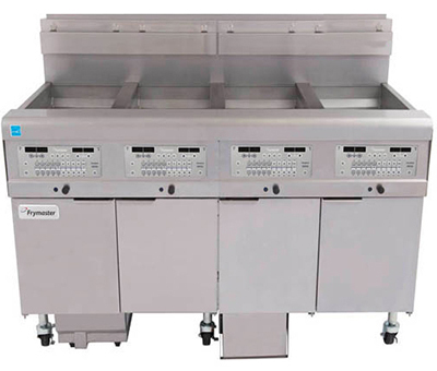 Frymaster / Dean 4FQE30U Electric Fryer - (4) 30-lb Vat, Floor Model, 208v