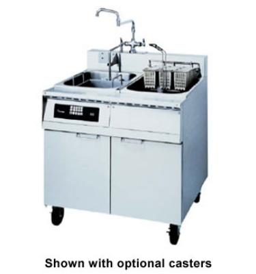 Frymaster / Dean 8SMS 2403 Single Tank Pasta Cooker w/ Rinse Tank, Lift, Stainless, 8 Kw, 240/3