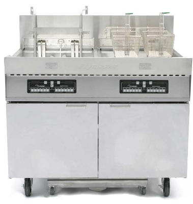 Frymaster / Dean FPC228BL 2083 Electric Fryer - (2) 110-lb Vat, Floor Model, 208v/3ph