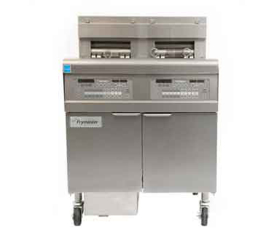 Frymaster / Dean FPEL214C Electric Fryer - (2) 30-lb Vat, Floor Model, 208v/3ph