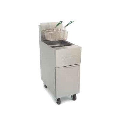 Frymaster / Dean GF40SDNG Gas Fryer - (2) 50-lb Vat, Floor Model, NG