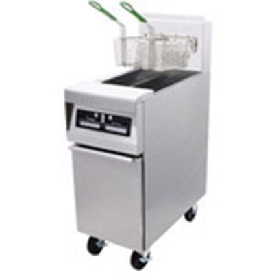 Frymaster / Dean H55-2E NG Split Pot Gas Fryer w/ (2) 25 lb-Capacity Frypots, Electronic Timer, NG