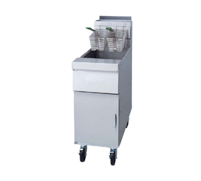 Frymaster / Dean HD50GDD LP Gas Fryer - (2) 50-lb Vat, Floor Model, LP