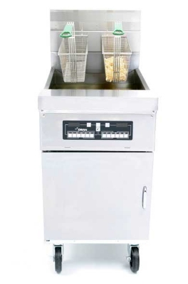 Frymaster / Dean HD60G NG High Efficiency Decathlon Fryer, 60-80 lb, Solid State, Stainless, NG