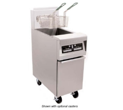 Frymaster / Dean MJ45E-2SC LP Split Pot Fryer, 25 lb Per Pot, Thermostat, Stainless, LP