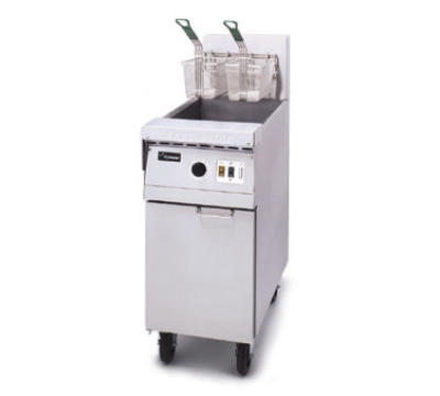 Frymaster / Dean MJ45EBL-SD NG Restaurant Design Fryer, 40-50 lb, Basket Lifts, Timer, Enamel, NG