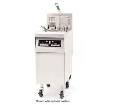 Frymaster / Dean RE14-2BLTC-SD 2403 50-lb Dual Fryer w/ Basket Lift & TRIAC Pkg Enamel Cabinet 14-kW 240/3 V Restaurant Supply