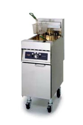 Frymaster / Dean RE17-2BLC-SD 2401 Dual Fat Fryer, 25 lb Each, Lifts, Computer, Enamel, 17 Kw, 240/1