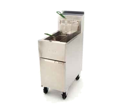 Frymaster / Dean SR52NG Gas Fryer - (2) 50-lb Vat, Floor Model, NG