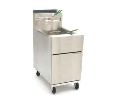 Frymaster / Dean SR62GNG Gas Fryer - (1) 75-lb Vat, Floor Model, NG
