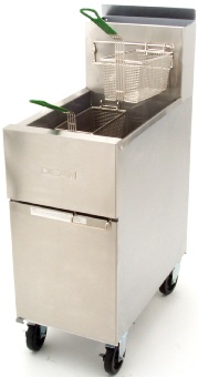 Frymaster / Dean SR42NG Super Runner Fryer, 35-46 lbs., 2 Fry Baskets, 6 in Legs, NG
