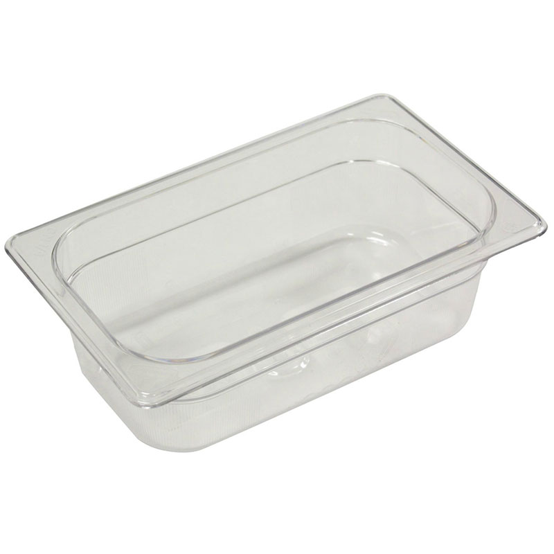 "Rubbermaid FG100P00CLR Cold Food Pan - 1/9 Size, 2-1/2"" Deep"