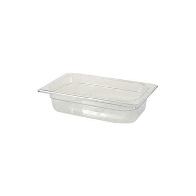 "Rubbermaid FG212P00AMBR Hot Food Pan - 1/4 Size, 6"" Deep, Poly, Amber"