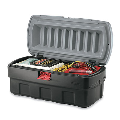 Rubbermaid FG11920138 48-gal Lockable Cargo Box - Black