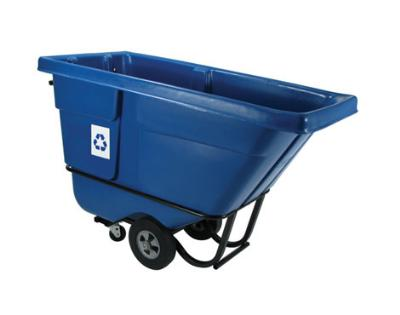 Rubbermaid FG130573BLUE Recycling Tilt Truck - 1/2 cu yd Capacity, Standard Duty, Blue