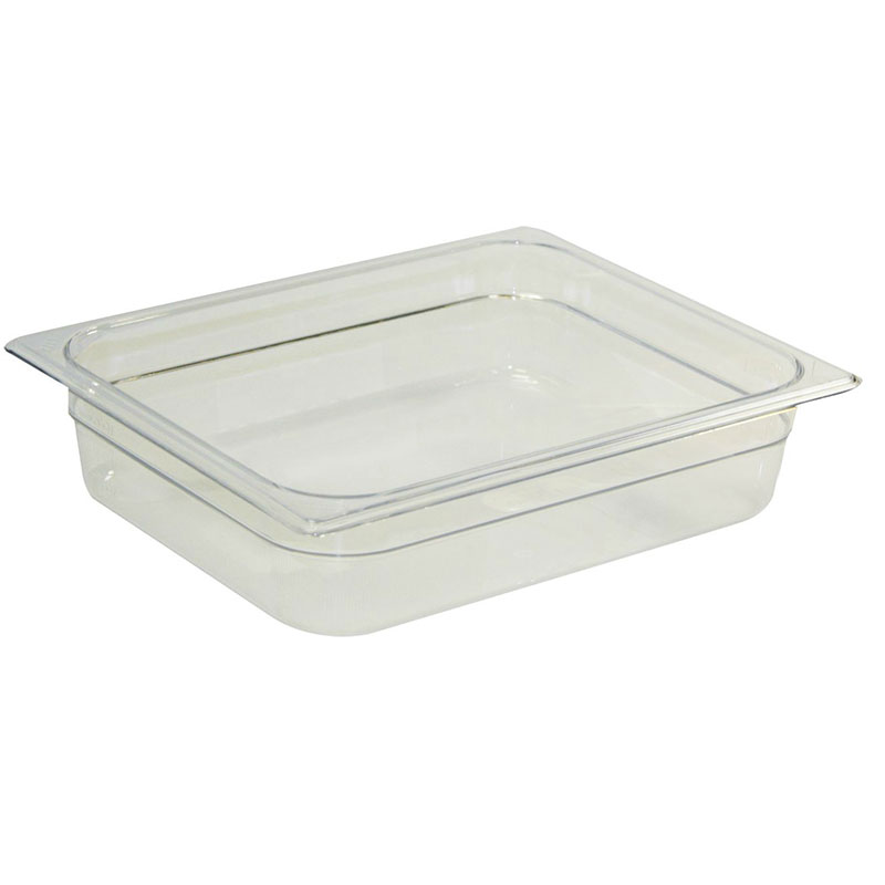 "Rubbermaid FG133P00CLR Cold Food Pan - Full Size, 8"" Deep"