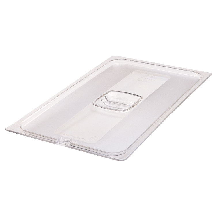Rubbermaid FG134P00CLR Cold Food Pan Cover - Full Size, Clear Poly