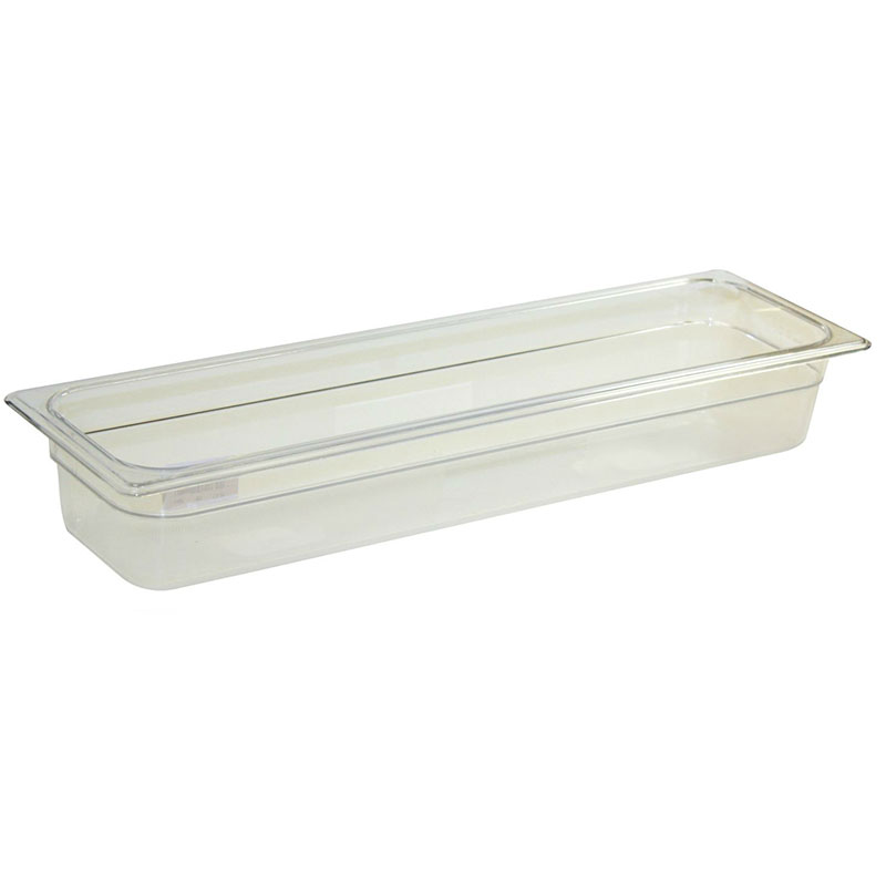 Rubbermaid FG239P00AMBR Hot Food Pan - Half