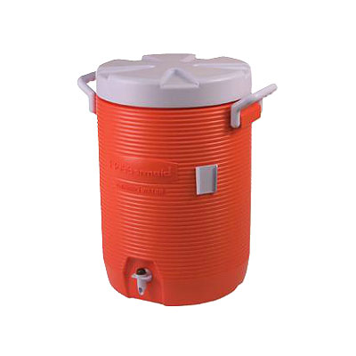 Rubbermaid FG16100111 10-gal Cold Beverage Container - Poly, Orange