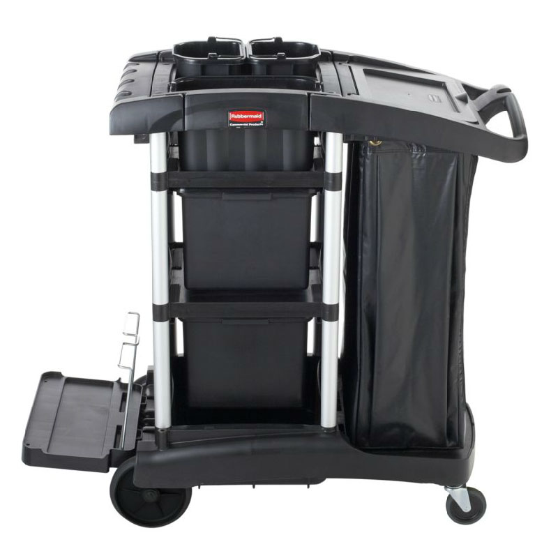 Rubbermaid 1861428 Executive Janitor Cleaning Cart - Bins, High Capacity
