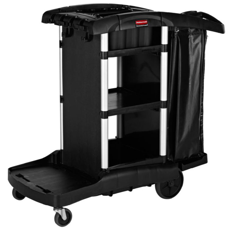 Rubbermaid 1861429 Executive Janitor Cleaning Cart - High Capacity