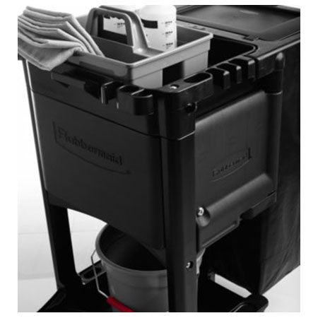 Rubbermaid 1861443 Locking Cabinet Door Kit Only for Executive Janitor Cleaning Cart, Black