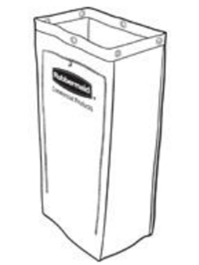 Rubbermaid 1878366 25-gal Executive Canvas Vinyl Bag - Housekeeping Cart