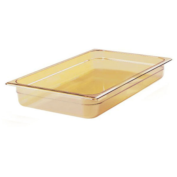 "Rubbermaid FG230P00AMBR Hot Food Pan - Full Size, 2-1/2"" Deep, P"