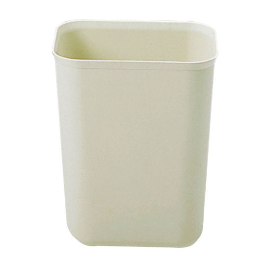 Rubbermaid FG254000BEIG 7-qt Waste Basket - Fire Resistant, Beige