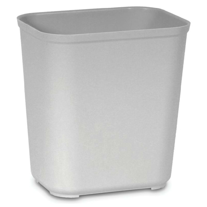 Rubbermaid FG254300GRAY 28-qt Waste Basket - Fir