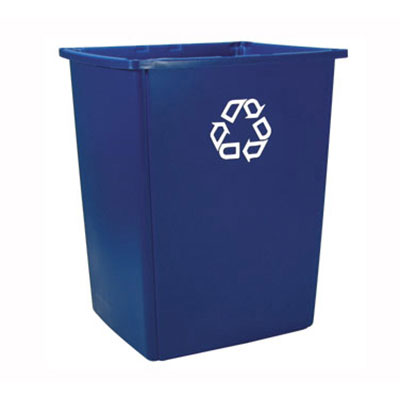 Rubbermaid FG256B73BLUE 56-gal Glutton Recycling Container - Dark Blue