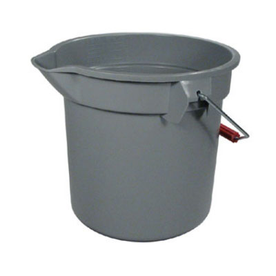 Rubbermaid FG296300GRAY 10-qt Round BRUTE Bucket - Gray
