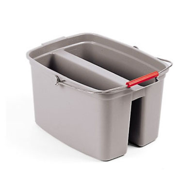 Rubbermaid FG261700GRAY 17-qt Double Pail - Gray
