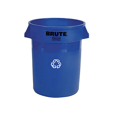 Rubbermaid FG263273BLUE 32-gal BRUTE Recycling Container - Blue