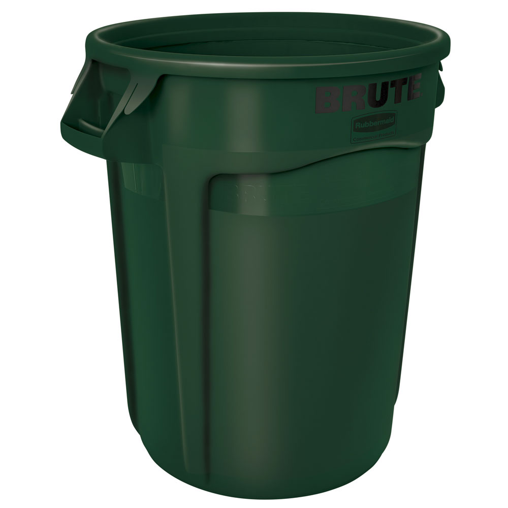 Rubbermaid FG263200DGRN 32-gal ProSave BRUTE Container - Dark Green