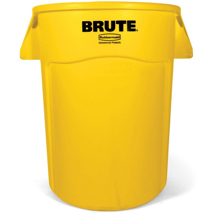 Rubbermaid FG264360YEL 44-gal BRUTE Utility Container - Yellow