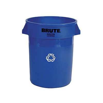 Rubbermaid FG264373BLUE 44-gal BRUTE Recycling Container - Blue