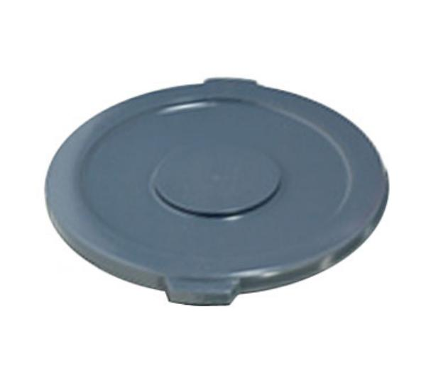 "Rubbermaid FG265400GRAY 26-3/4"" Round BRUTE Container Lid - Gray"