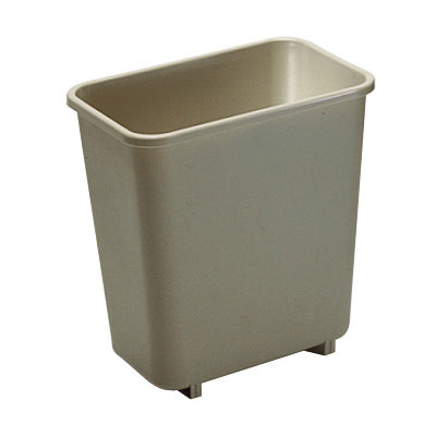 Rubbermaid FG295200BEIG 8-qt Waste Basket - Beige