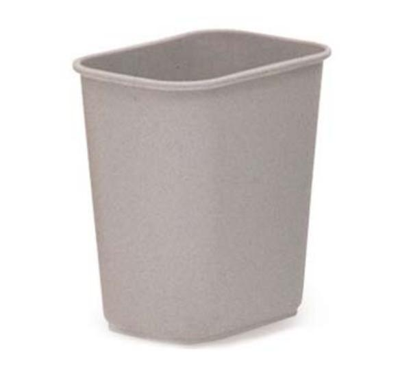 Rubbermaid FG295500BEIG 13-5/8-qt Waste Basket - Beige